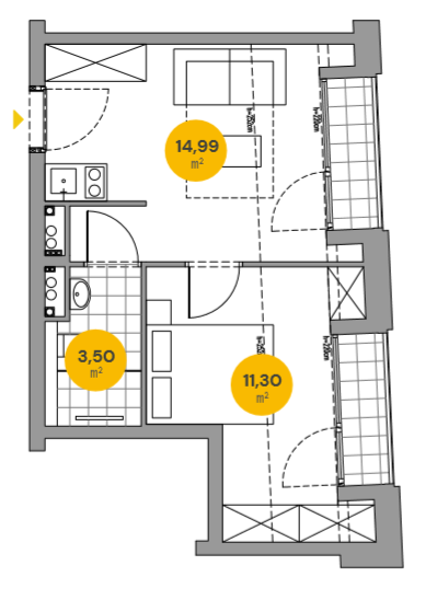 Plan of the flat.